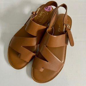 Franco Sarto Jax Slingback Flat Sandals Brown 5.5